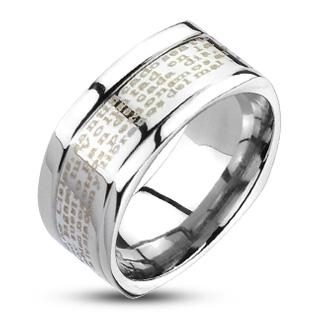 Prsten z chirurgické oceli R11891 (Prsten z chirurgické oceli R11891)