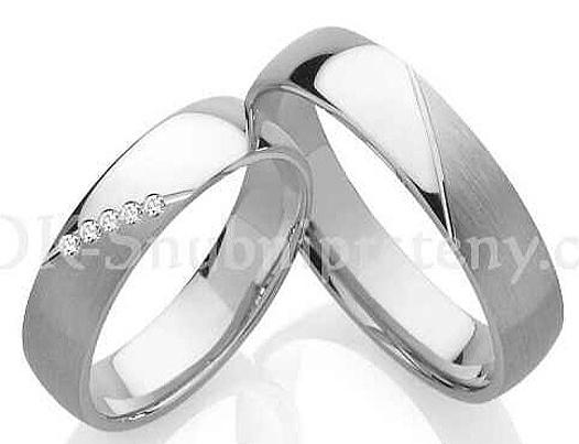 Snubní prstýnky z chirurgické oceli OC1089 (Snubní prstýnky z chirurgické oceli OC1089)