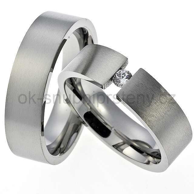 Snubní prsteny z chirurgické oceli OC1001