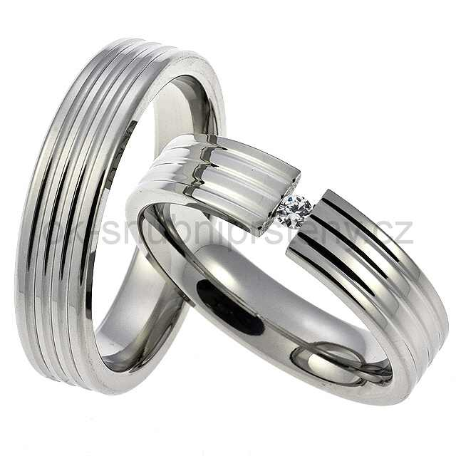 Snubní prsteny chirurgická ocel OC1002