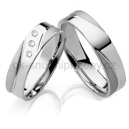 Snubní prsteny chirurgická ocel OC1008