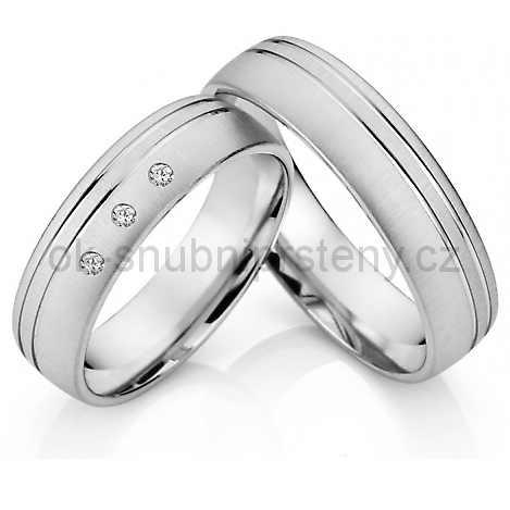 Snubní prsteny z chirurgické oceli OC1015