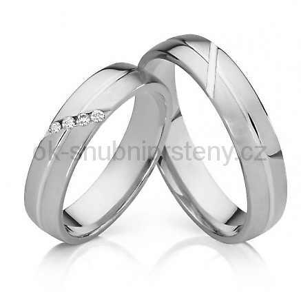 Snubní prsteny z chirurgické oceli OC1017