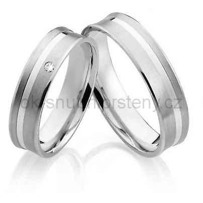 Snubní prsteny z chirurgické oceli OC1023
