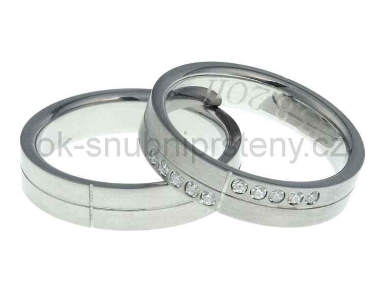 Snubní prsteny z chirurgické oceli OC1025