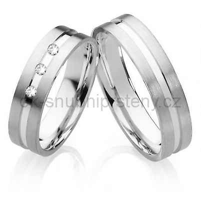 Snubní prsteny z chirurgické oceli OC1027