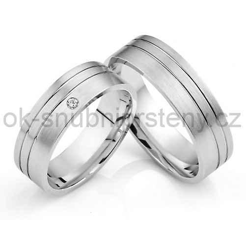 Snubní prsteny z chirurgické oceli OC1031