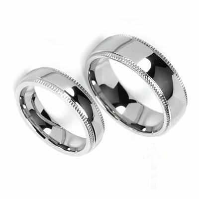 Snubní prsteny z chirurgické oceli R-M0007 (Snubní prsteny z chirurgické oceli R-M0007)
