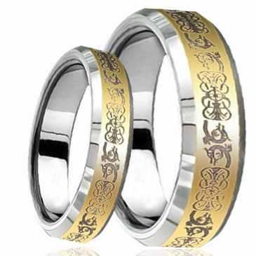 Wolframové snubní prsteny WRY-583 (Wolframové snubní prsteny WRY-583)