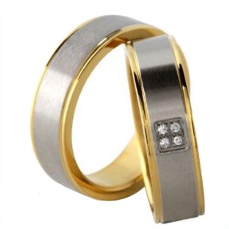 Snubní prsteny z chirurgické oceli MAR044 (Snubní prsteny z chirurgické oceli MAR044)