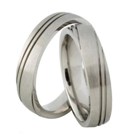 Snubní prsteny z chirurgické oceli MAR038 (Snubní prsteny z chirurgické oceli MAR038)