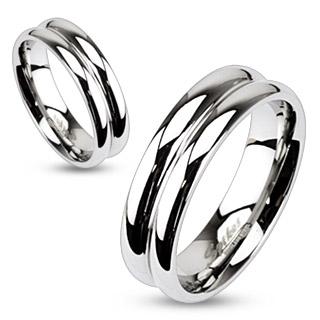 Snubní prsteny z chirurgické oceli R-M2055 (Snubní prsteny z chirurgické oceli R-M2055)