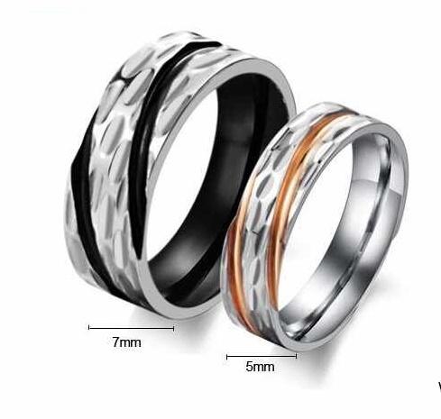 Snubní prsteny z chirurgické oceli GJ302