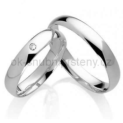 Snubní prsteny z chirurgické oceli OC1038C