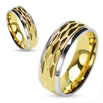 Snubní prsteny z chirurgické oceli R-H0909 (Snubní prsteny R-H0909)