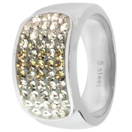 Prsten Swarovski RSSW11CZ (Ocelový prsten Swarovski crystals RSSW11-CZ)