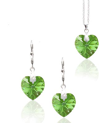 Souprava Peridot Crystal 27b (Made with Swarovski® Elements)