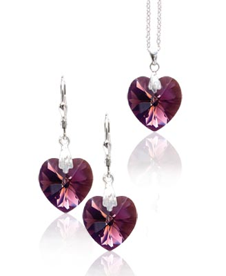 Souprava Amethyst Crystal 29b (Made with Swarovski® Elements)
