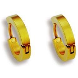 Náušnice z chirurgické oceli ESH17-GOLD (Ocelové Náušnice ESH17-GOLD)
