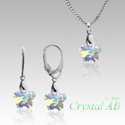 Souprava flower Crystal SB3 (Made with Swarovski® Elements)