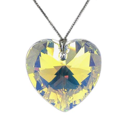 Náhrdelník Srdíčko AB Crystal E043 (Made with Swarovski® Elements)