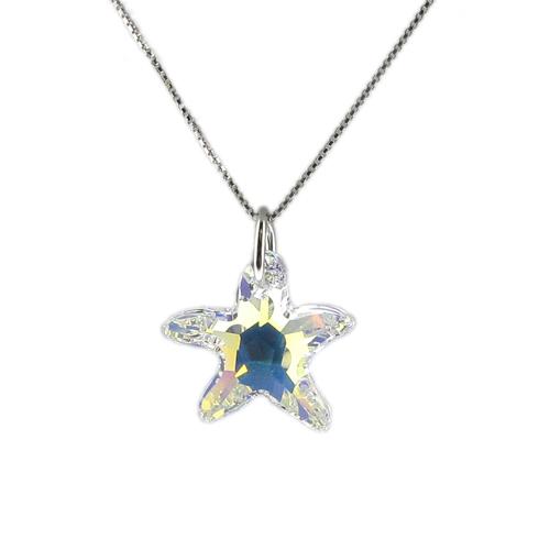 Náhrdelník Hvězda AB Crystal E021 (Made with Swarovski® Elements)