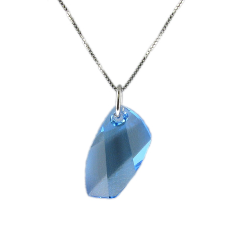 Náhrdelník Montána Aquamarine Crystal E023 (Made with Swarovski® Elements)