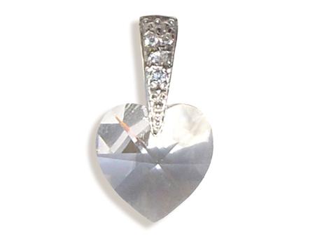 Přívěsek srdce crystal (Made with Swarovski® Elements)