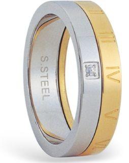 Prsten chirurgická ocel s kamínkem RSM02