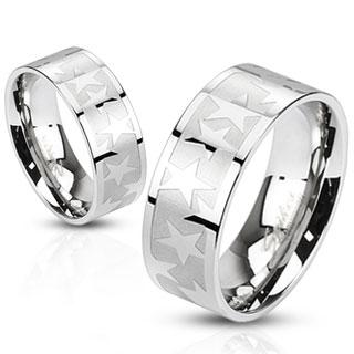 Snubní prsteny z chirurgické ocel R-M2486