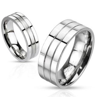 Snubní prsteny z chirurgické ocel R-M0023