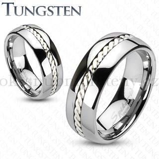 Wolframové snubní prsteny R-TU-204