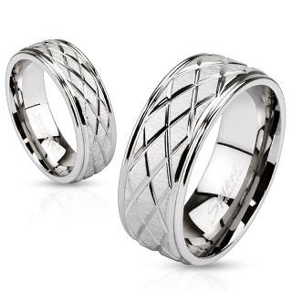 Snubní prsteny z chirurgické ocel R-M2621