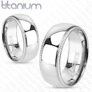 Snubní Titanové prsteny R-TM-3638 (Dárkové balení zdarma)