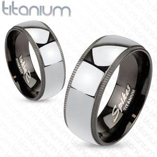 Snubní Titanové prsteny R-TM-1010