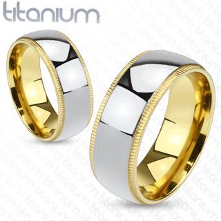 Snubní Titanové prsteny R-TM-1011