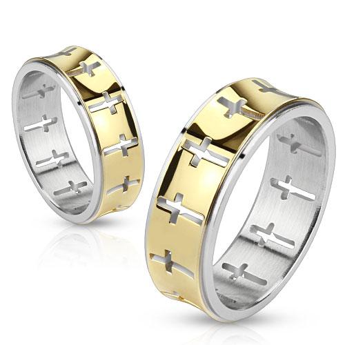 Snubní prsteny z chirurgické oceli R-M2392