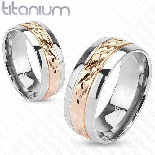Snubní Titanové prsteny R-TM-3700