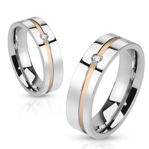 Snubní prsteny z chirurgické ocel R-H1011