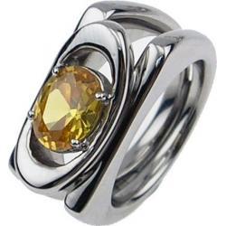 Ocelový prsten AKCE SPR03-YELLOW-CZ (Ocelový prsten AKCE SPR03-YELLOW-CZ)