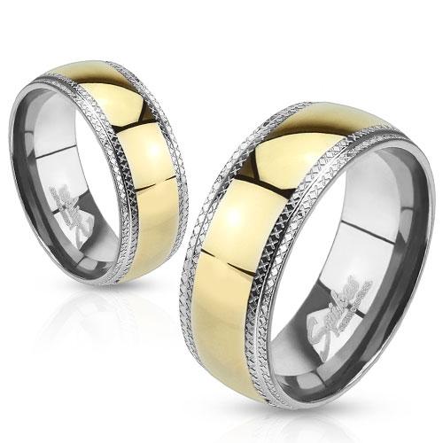 Levné snubní prsteny z chirurgické ocel R-H0944