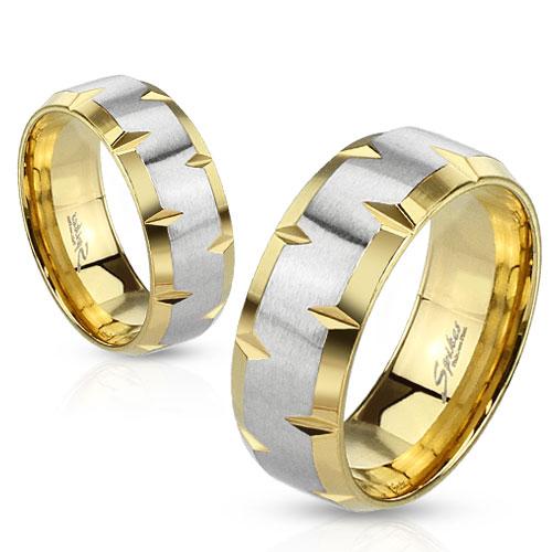 Levné Snubní prsteny z chirurgické ocel R-M1181