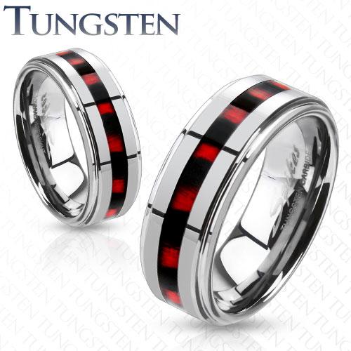Wolframové snubní prsteny R-TU-210