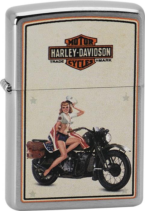 Benzínový zapalovač Zippo Harley-Davidson® 21750 (Benzín Zdarma)