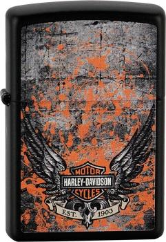Benzínový zapalovač Zippo Harley-Davidson® 26565 (Benzín Zdarma)