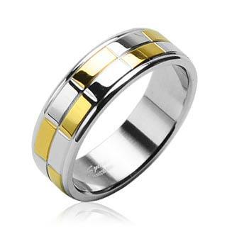 Ocelový prsten Spikes R-H0818 (Dárkové balení zdarma)
