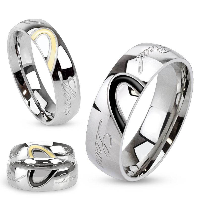 Snubní prsteny chirurgická ocel 1 pár HWRM3030