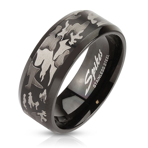 Prsten z chirurgické oceli R-S1247 (Dárkové balení zdarma)