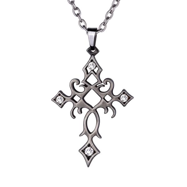 Přívěsek křížek z chirurgické oceli PSS604 (Dárkové balení zdarma)