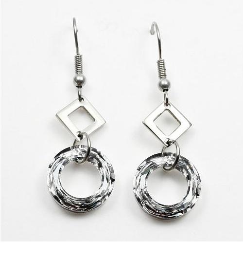 Náušnice se Swarovski krystaly Rings TSWE112S (Swarovski náušnice -Rings )